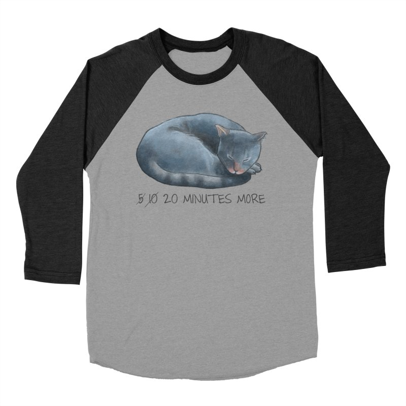 Sleepy Cat - 20 minutes more - Lazy Animals Women's Baseball Triblend Longsleeve T-Shirt by Beatrizxe