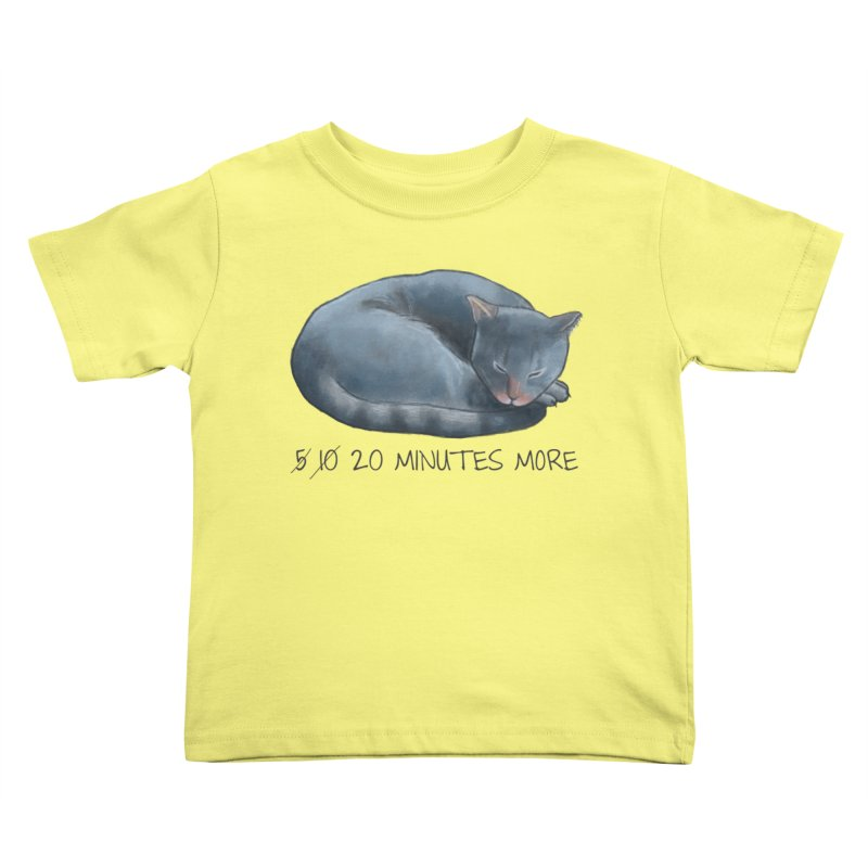 Sleepy Cat - 20 minutes more - Lazy Animals Kids Toddler T-Shirt by Beatrizxe