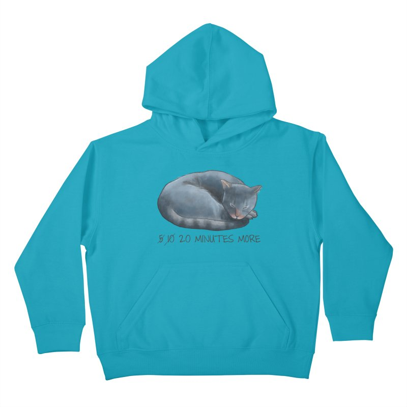 Sleepy Cat - 20 minutes more - Lazy Animals Kids Pullover Hoody by Beatrizxe