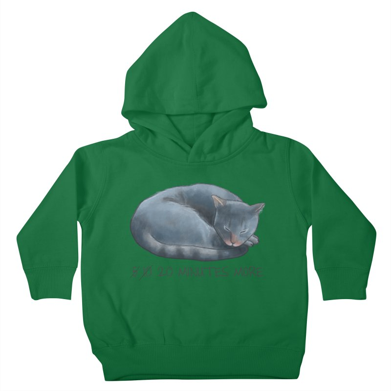 Sleepy Cat - 20 minutes more - Lazy Animals Kids Toddler Pullover Hoody by Beatrizxe