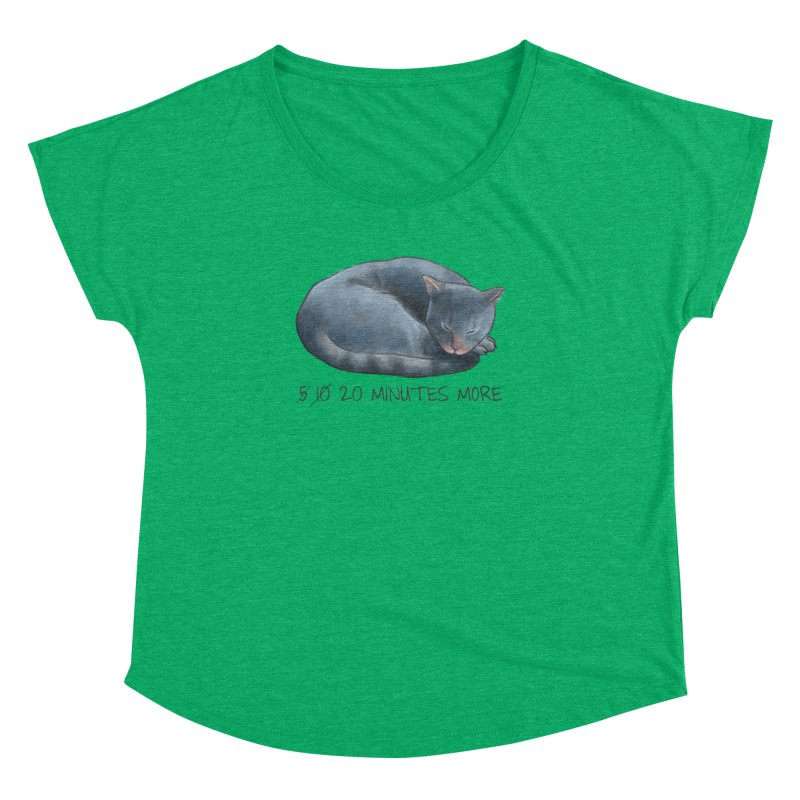 Sleepy Cat - 20 minutes more - Lazy Animals Women's Dolman by Beatrizxe