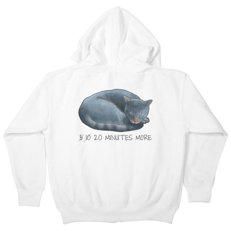 Sleepy Cat - 20 minutes more - Lazy Animals Kids Zip-Up Hoody by Beatrizxe