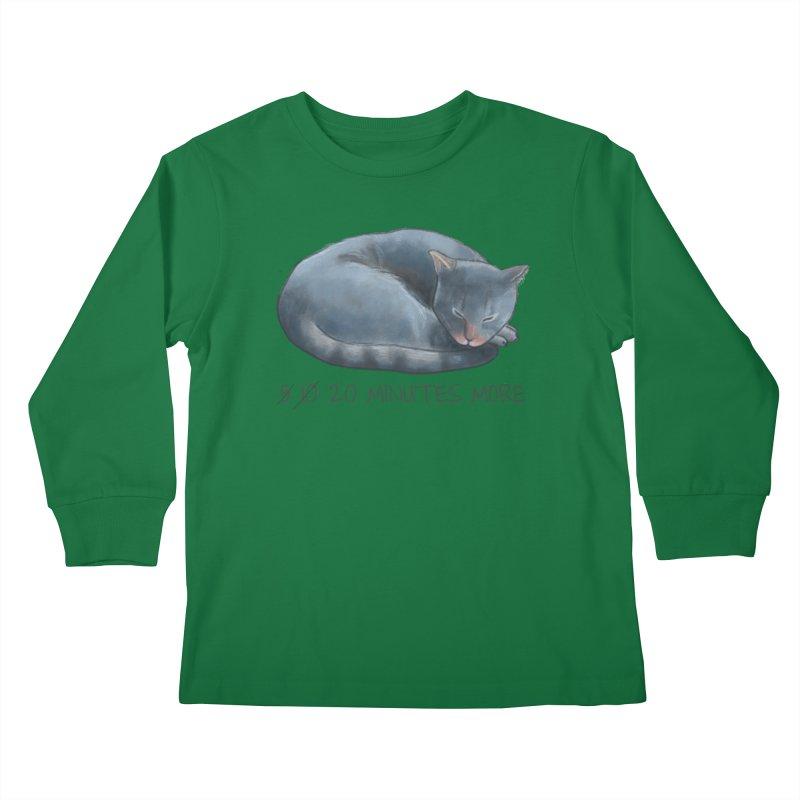 Sleepy Cat - 20 minutes more - Lazy Animals Kids Longsleeve T-Shirt by Beatrizxe