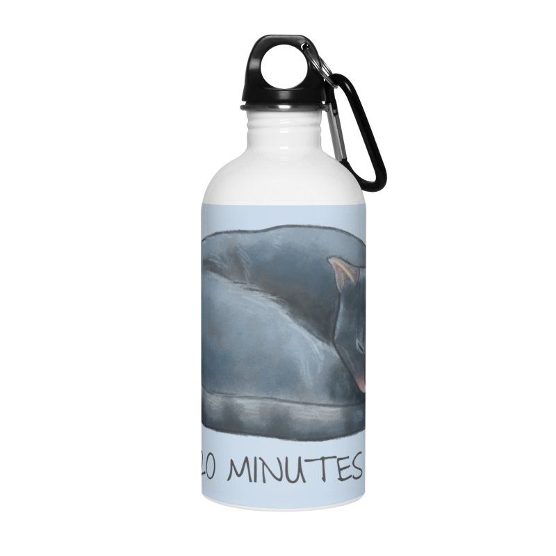 Sleepy Cat - 20 minutes more - Lazy Animals Accessories Water Bottle by Beatrizxe