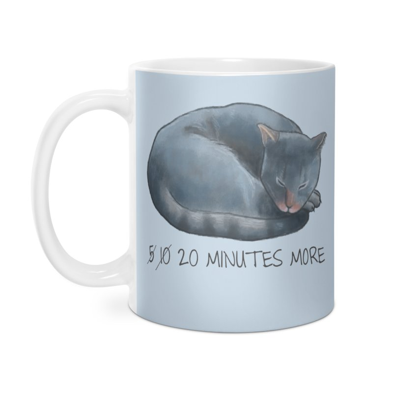 Sleepy Cat - 20 minutes more - Lazy Animals Accessories Mug by Beatrizxe