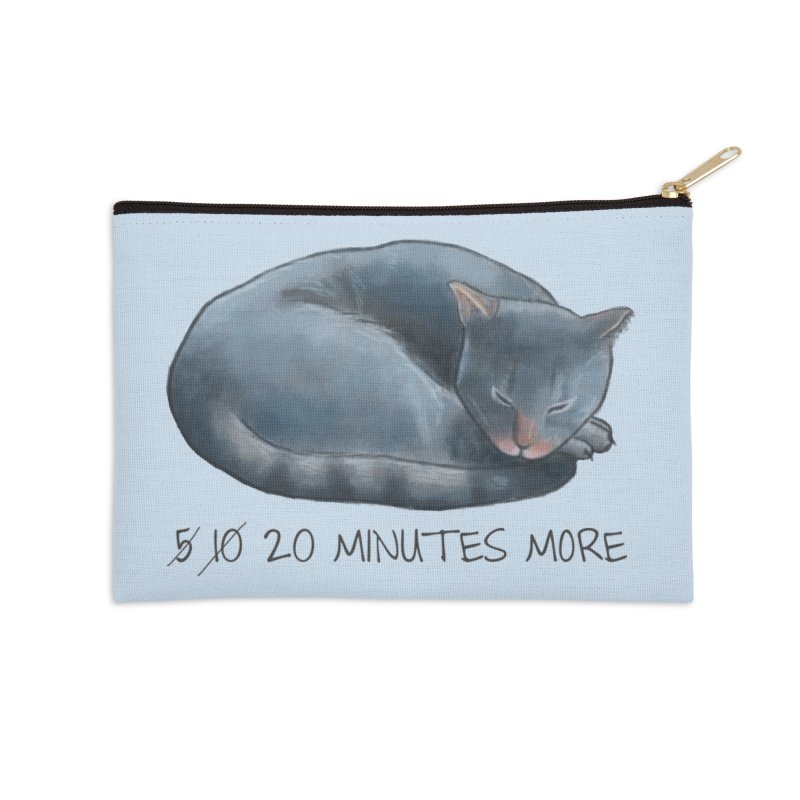Sleepy Cat - 20 minutes more - Lazy Animals Accessories Zip Pouch by Beatrizxe
