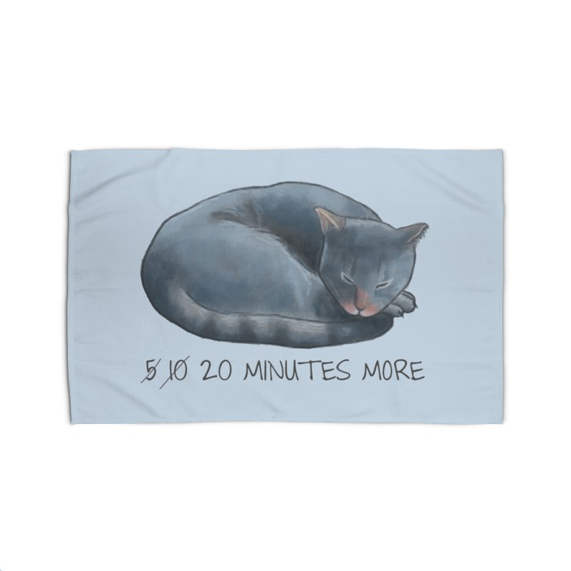 Sleepy Cat - 20 minutes more - Lazy Animals Home Rug by Beatrizxe