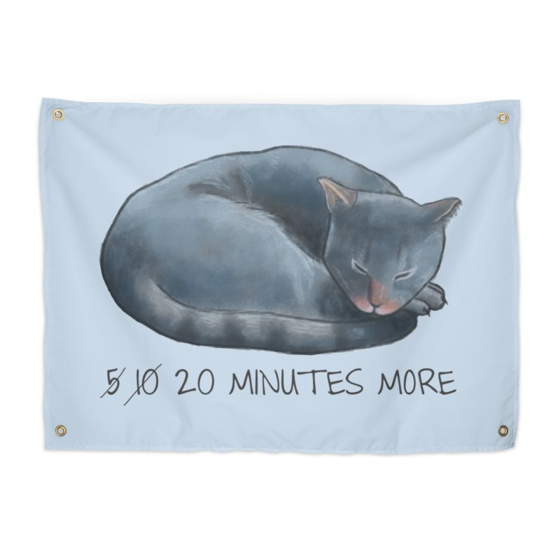 Sleepy Cat - 20 minutes more - Lazy Animals Home Tapestry by Beatrizxe