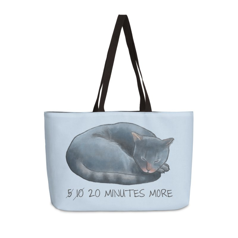 Sleepy Cat - 20 minutes more - Lazy Animals Accessories Weekender Bag Bag by Beatrizxe