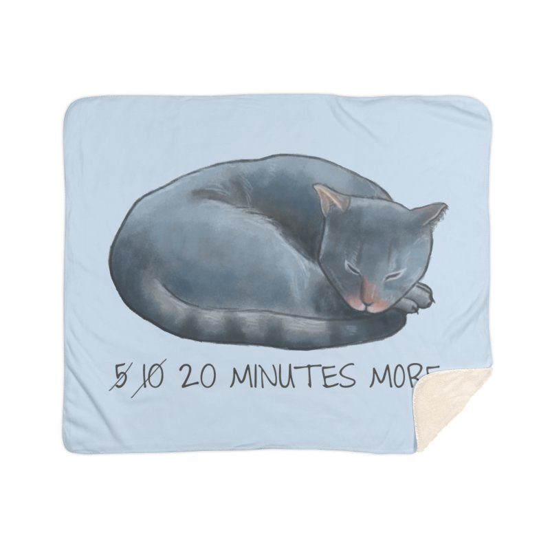 Sleepy Cat - 20 minutes more - Lazy Animals Home Sherpa Blanket Blanket by Beatrizxe