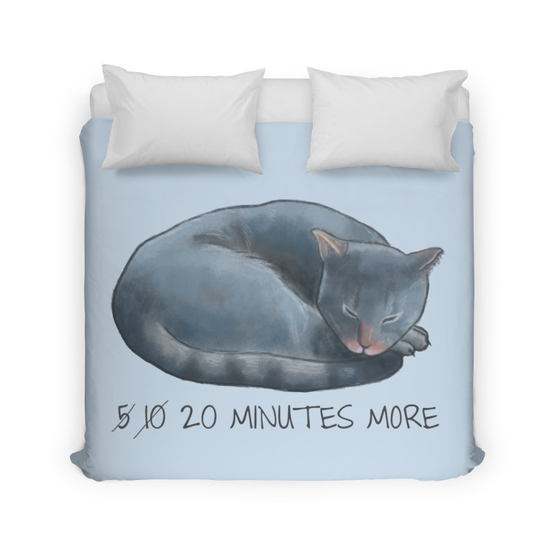 Sleepy Cat - 20 minutes more - Lazy Animals Home Duvet by Beatrizxe