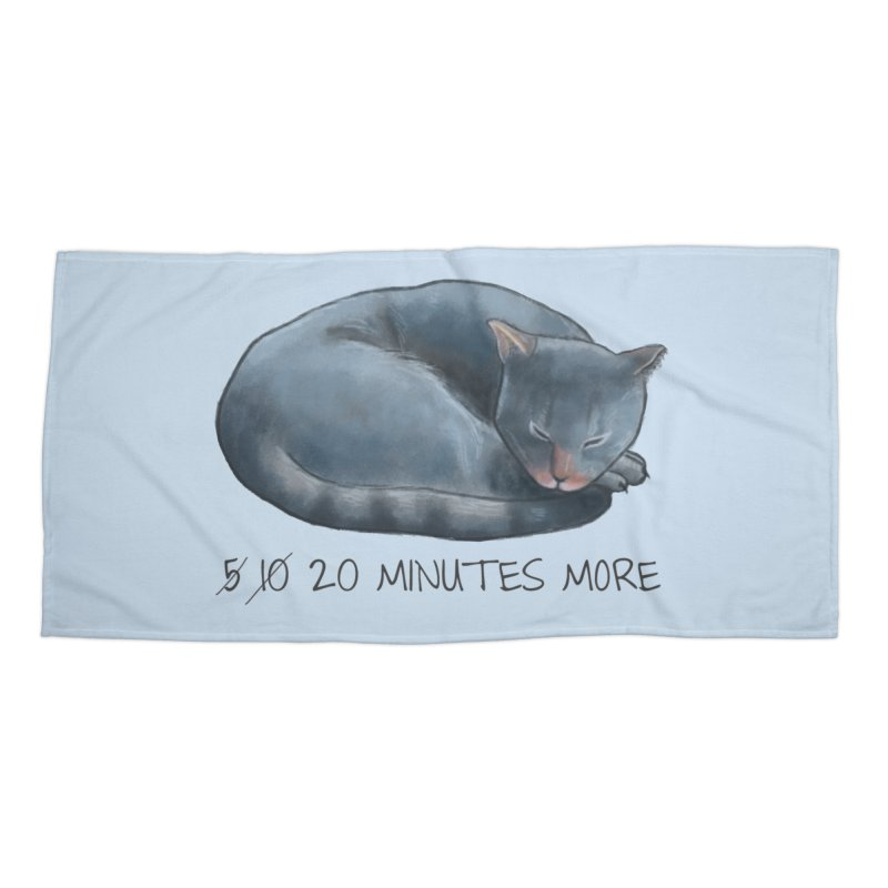 Sleepy Cat - 20 minutes more - Lazy Animals Accessories Beach Towel by Beatrizxe