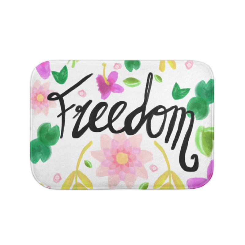 Freedom. Floral Pattern (flowers pattern) Home Bath Mat by Beatrizxe