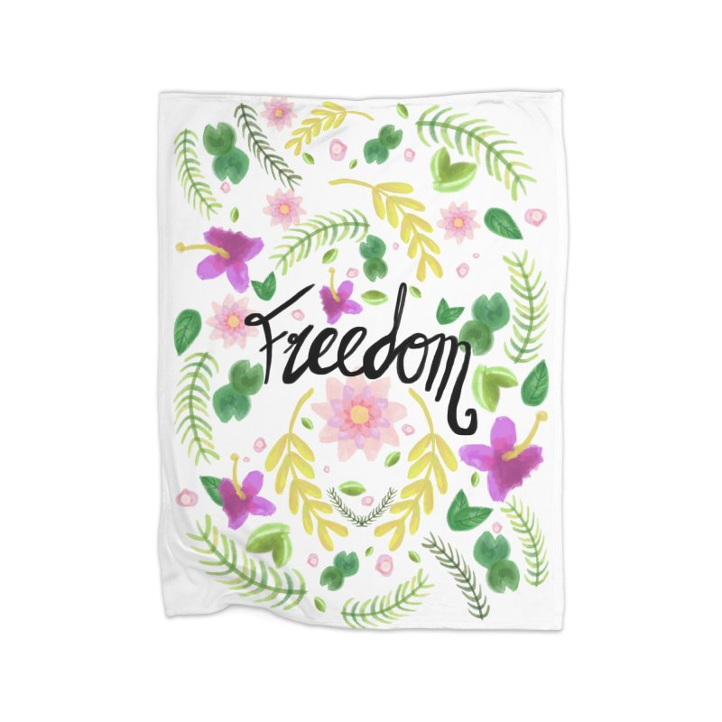 Freedom. Floral Pattern (flowers pattern) Home Fleece Blanket Blanket by Beatrizxe