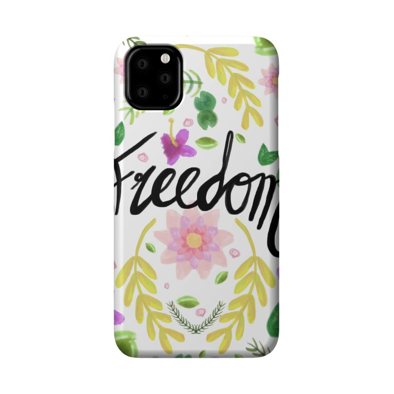 Freedom. Floral Pattern (flowers pattern) Accessories Phone Case by Beatrizxe