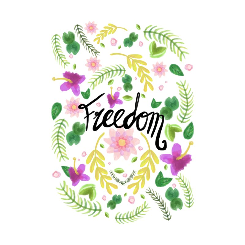 Freedom. Floral Pattern (flowers pattern) Women's V-Neck by Beatrizxe