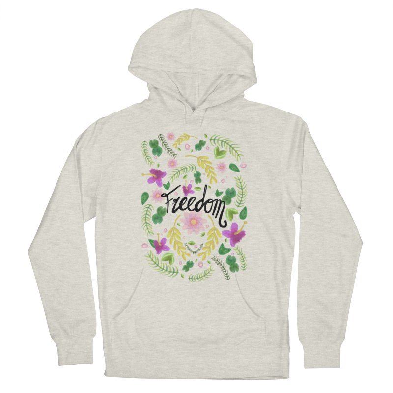Freedom. Floral Pattern (flowers pattern) Women's Pullover Hoody by Beatrizxe