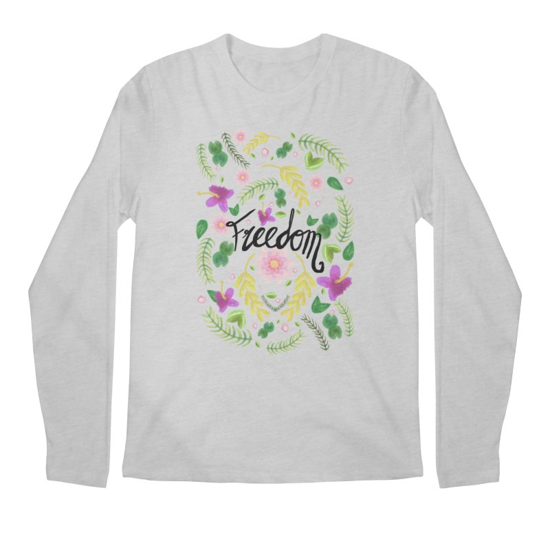 Freedom. Floral Pattern (flowers pattern) Men's Longsleeve T-Shirt by Beatrizxe