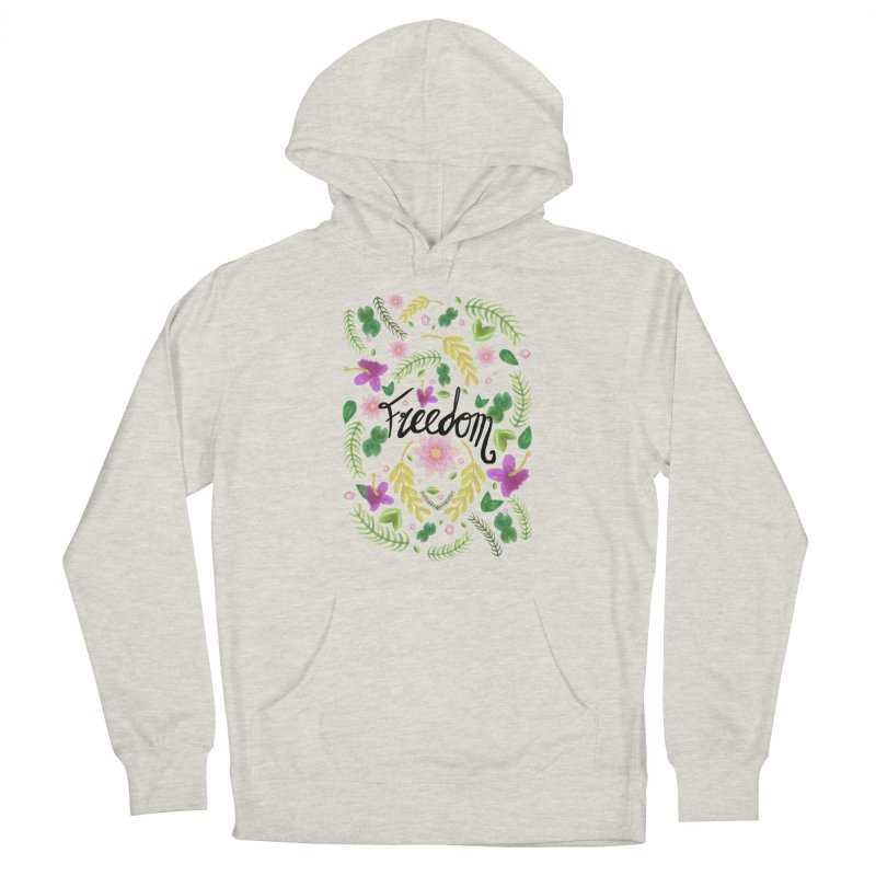 Freedom. Floral Pattern (flowers pattern) Men's Pullover Hoody by Beatrizxe