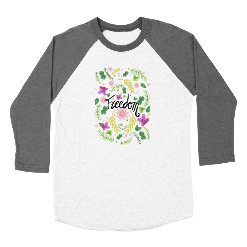 Freedom. Floral Pattern (flowers pattern) Women's Longsleeve T-Shirt by Beatrizxe