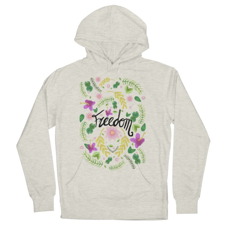Freedom. Floral Pattern (flowers pattern) Women's French Terry Pullover Hoody by Beatrizxe
