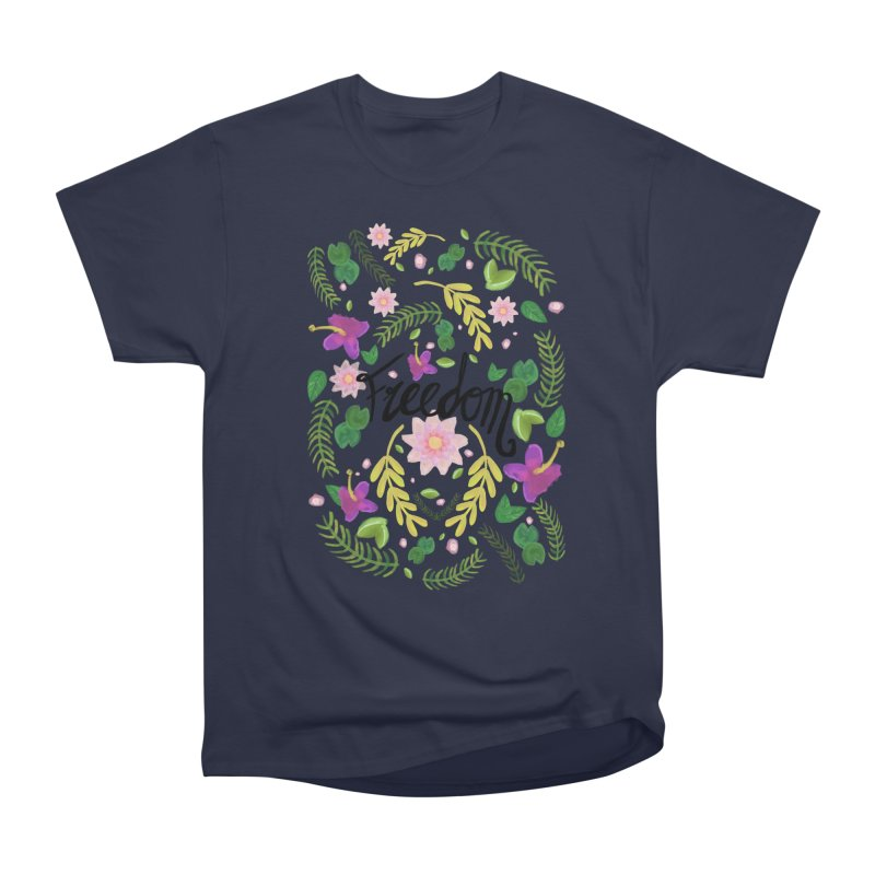 Freedom. Floral Pattern (flowers pattern) Women's Classic Unisex T-Shirt by Beatrizxe