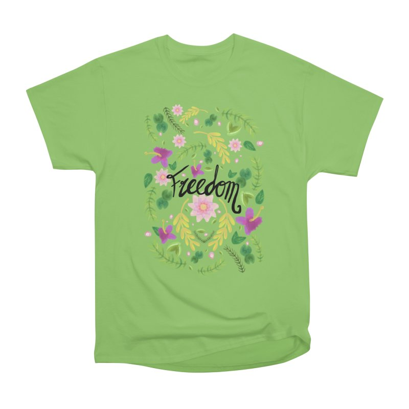 Freedom. Floral Pattern (flowers pattern) Women's T-Shirt by Beatrizxe