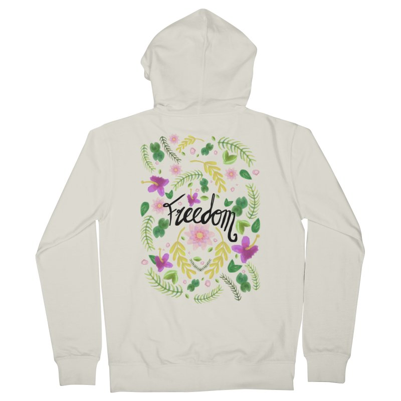 Freedom. Floral Pattern (flowers pattern) Men's French Terry Zip-Up Hoody by Beatrizxe