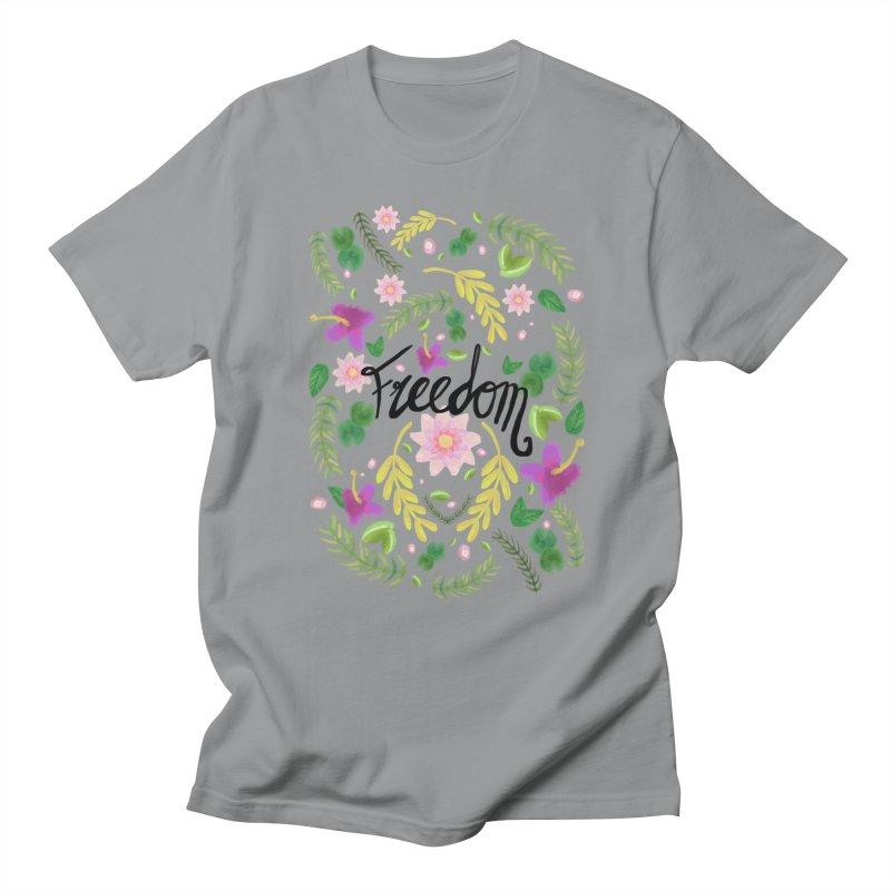 Freedom. Floral Pattern (flowers pattern) Women's Regular Unisex T-Shirt by Beatrizxe