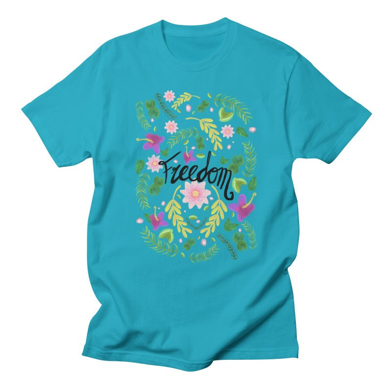 Freedom. Floral Pattern (flowers pattern) Women's Unisex T-Shirt by Beatrizxe