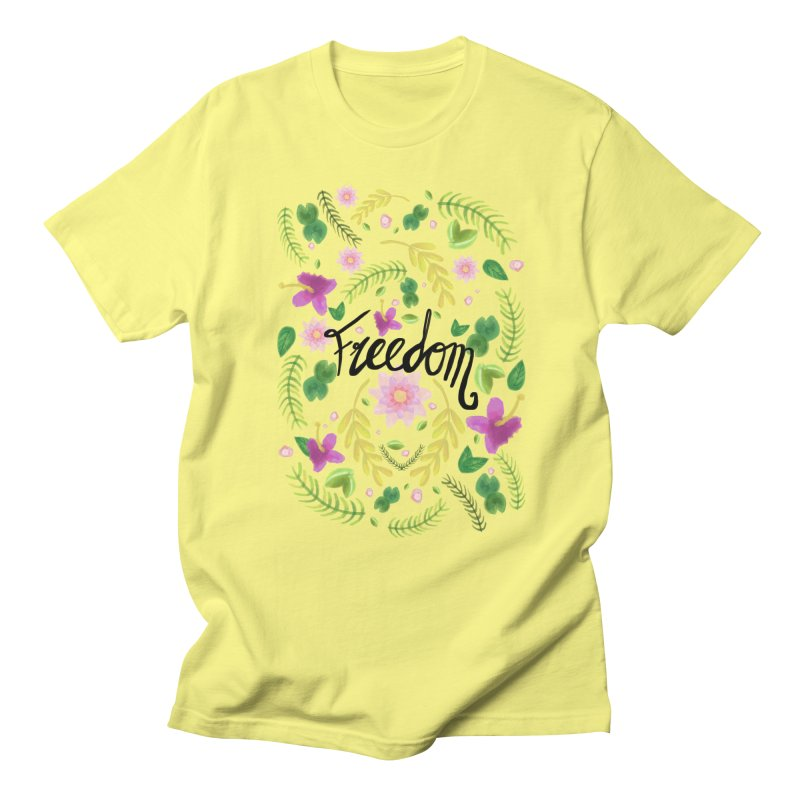 Freedom. Floral Pattern (flowers pattern) Women's T-Shirt by Beatrizxe