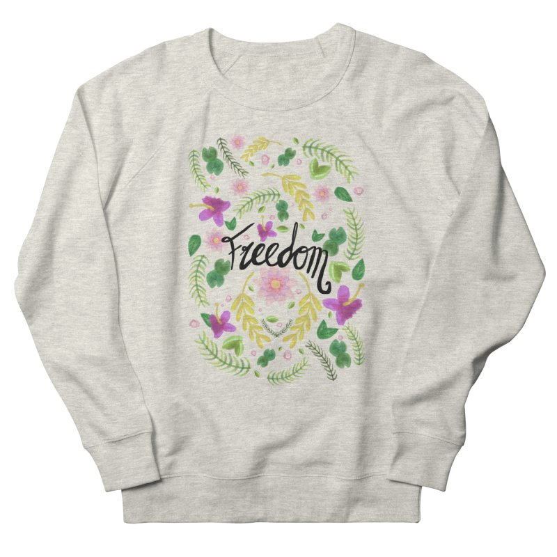 Freedom. Floral Pattern (flowers pattern) Men's Sweatshirt by Beatrizxe