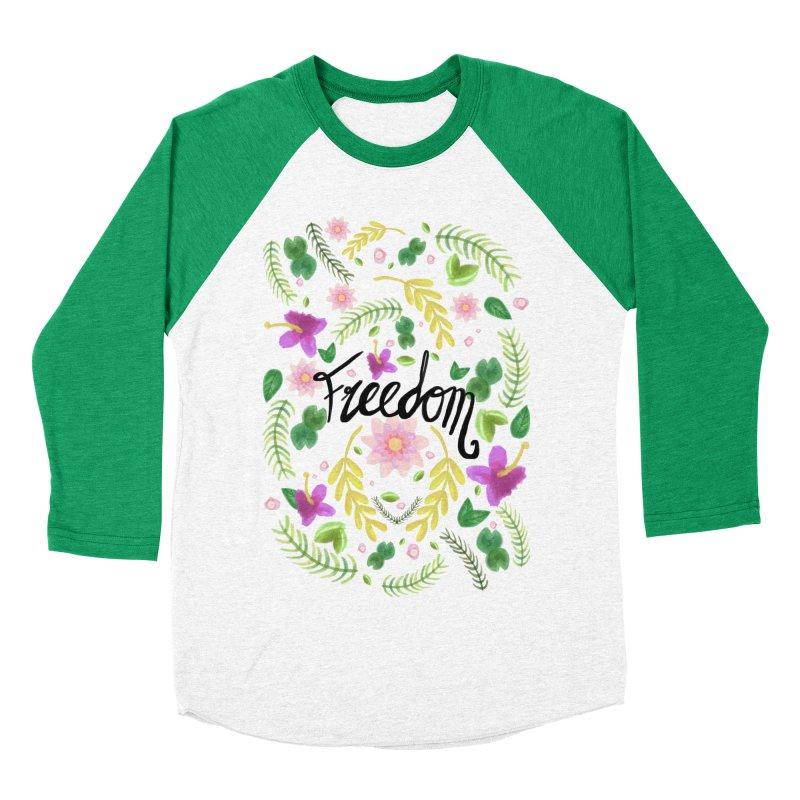 Freedom. Floral Pattern (flowers pattern) Women's Baseball Triblend T-Shirt by Beatrizxe