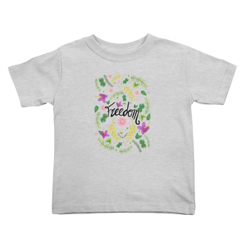 Freedom. Floral Pattern (flowers pattern) Kids Toddler T-Shirt by Beatrizxe