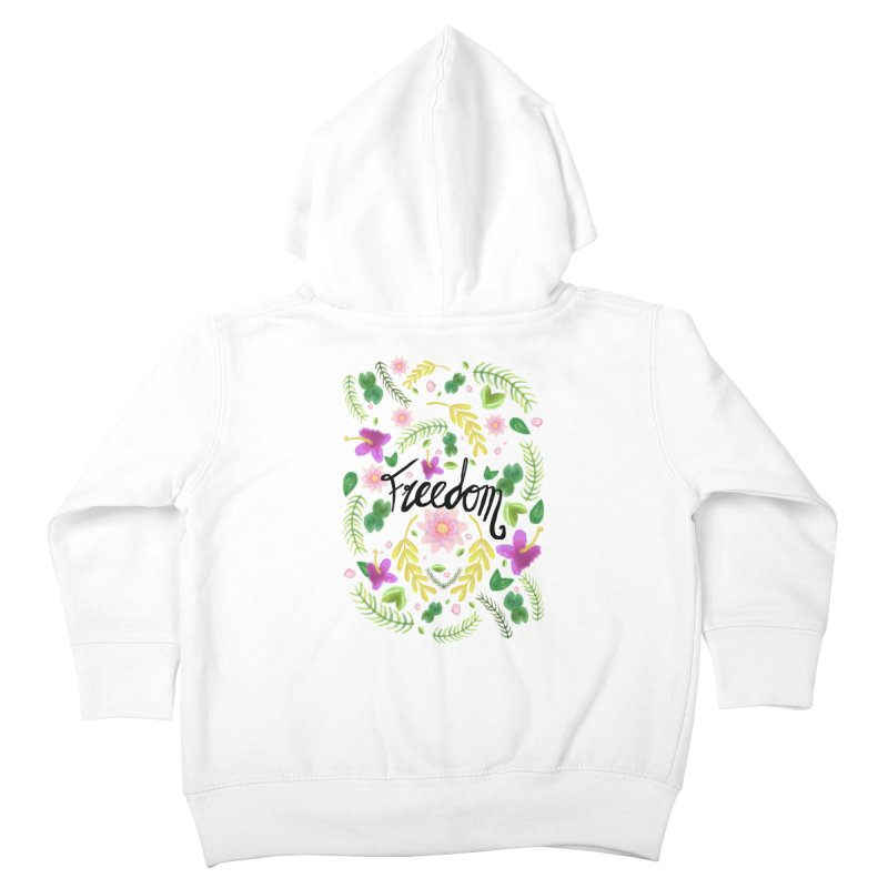 Freedom. Floral Pattern (flowers pattern) Kids Toddler Zip-Up Hoody by Beatrizxe