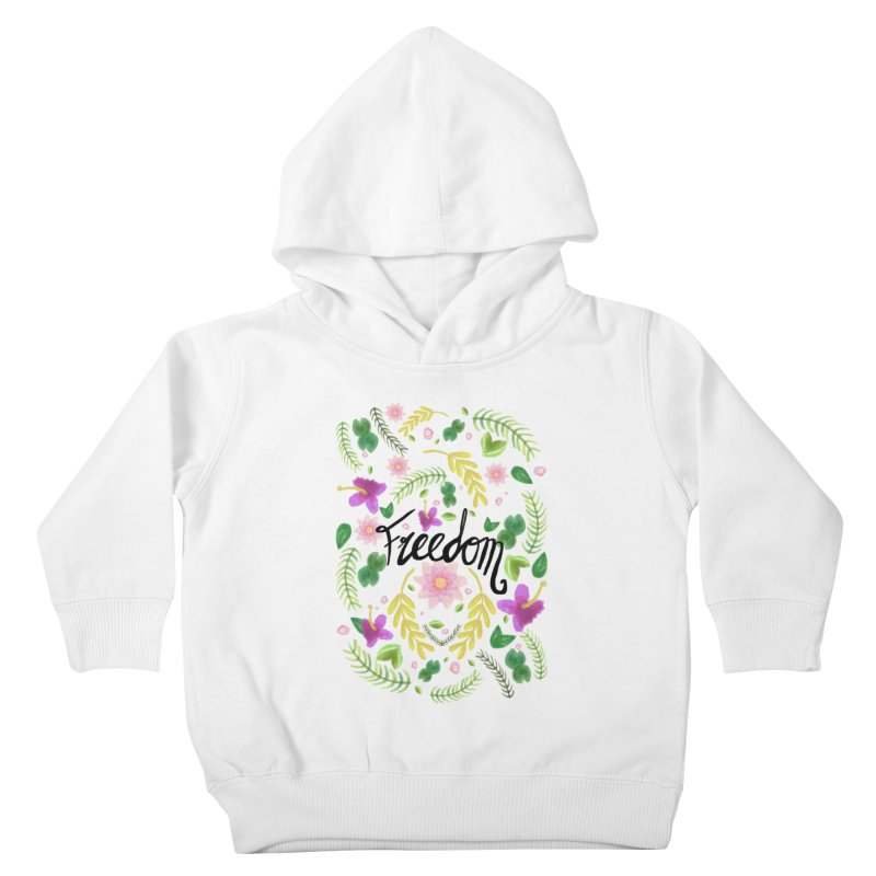 Freedom. Floral Pattern (flowers pattern) Kids Toddler Pullover Hoody by Beatrizxe