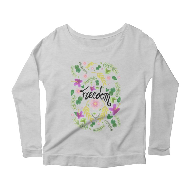 Freedom. Floral Pattern (flowers pattern) Women's Longsleeve Scoopneck  by Beatrizxe