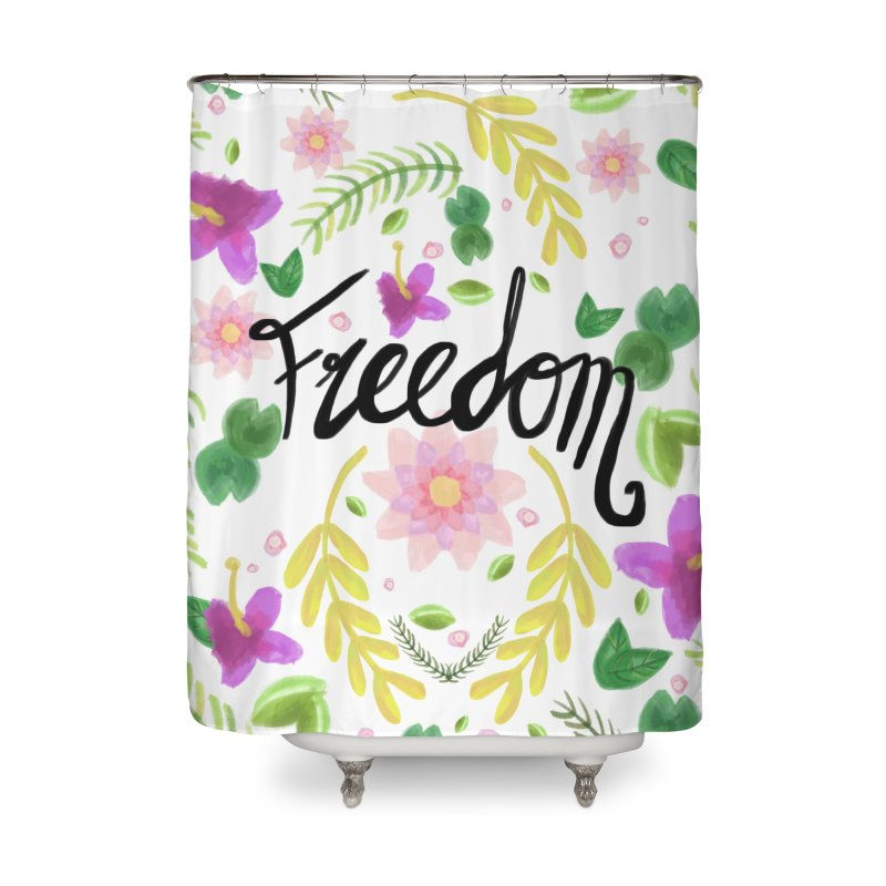 Freedom. Floral Pattern (flowers pattern) Home Shower Curtain by Beatrizxe