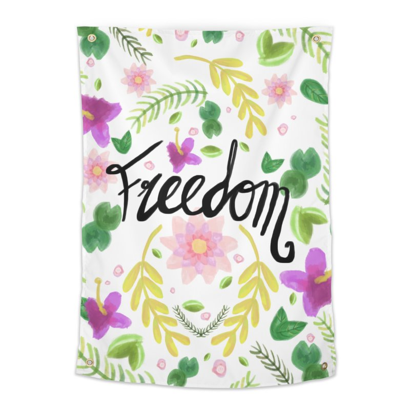 Freedom. Floral Pattern (flowers pattern) Home Tapestry by Beatrizxe