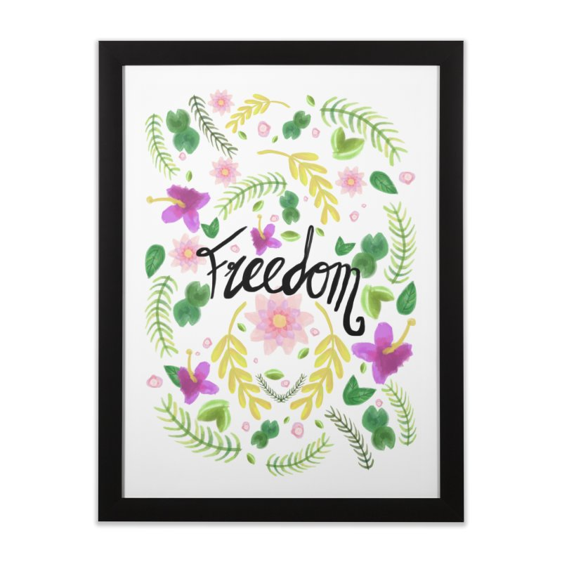 Freedom. Floral Pattern (flowers pattern) Home Framed Fine Art Print by Beatrizxe