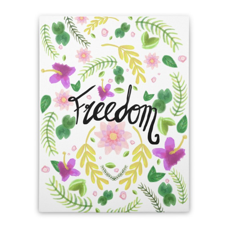 Freedom. Floral Pattern (flowers pattern) Home Stretched Canvas by Beatrizxe
