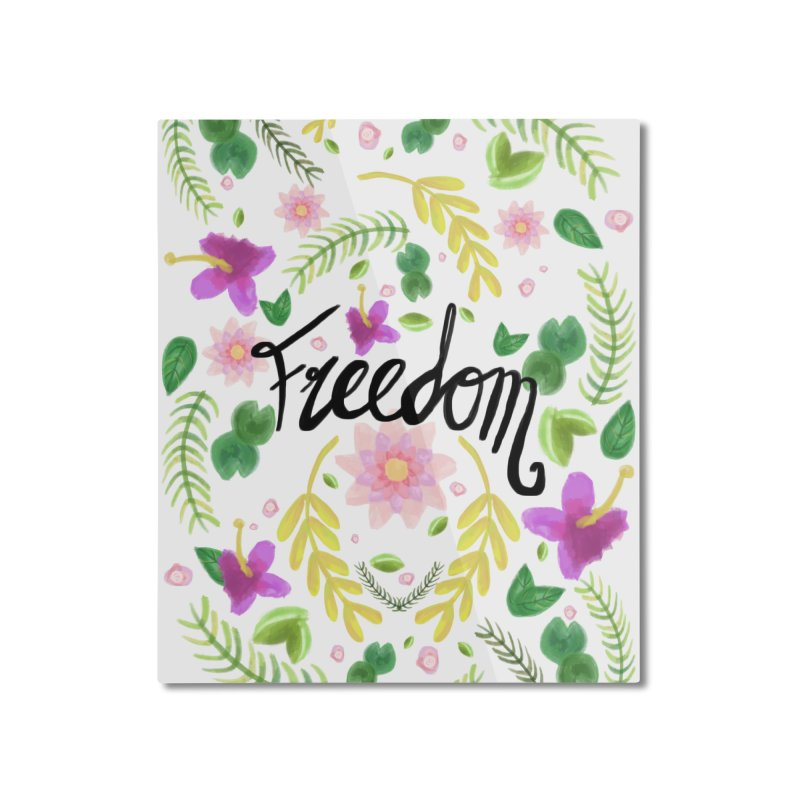 Freedom. Floral Pattern (flowers pattern) Home Mounted Aluminum Print by Beatrizxe