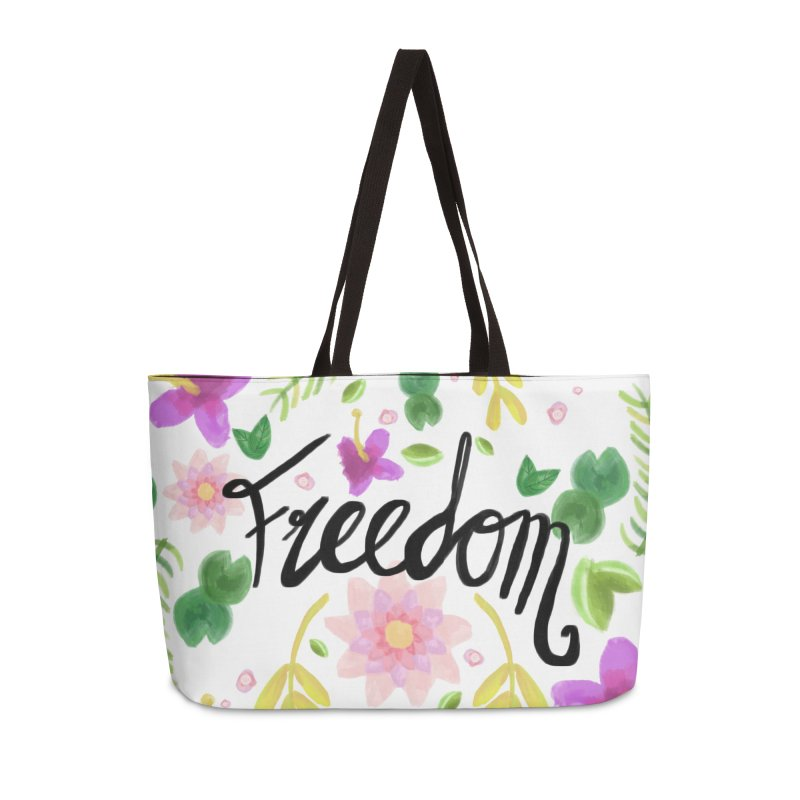 Freedom. Floral Pattern (flowers pattern) in Weekender Bag by Beatrizxe