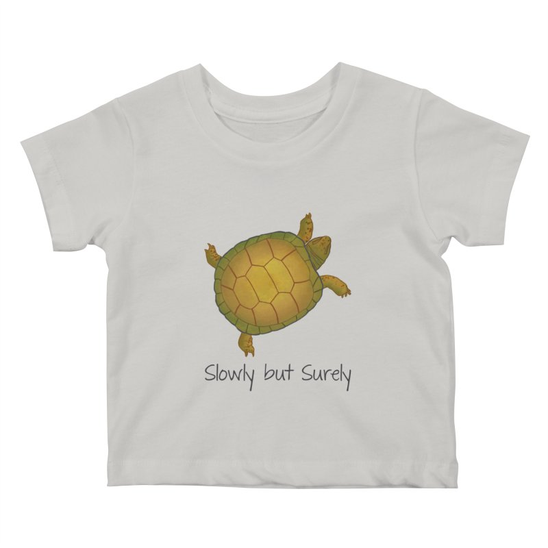 Turtle - Slowly but Surely - Lazy Animals Kids Baby T-Shirt by Beatrizxe