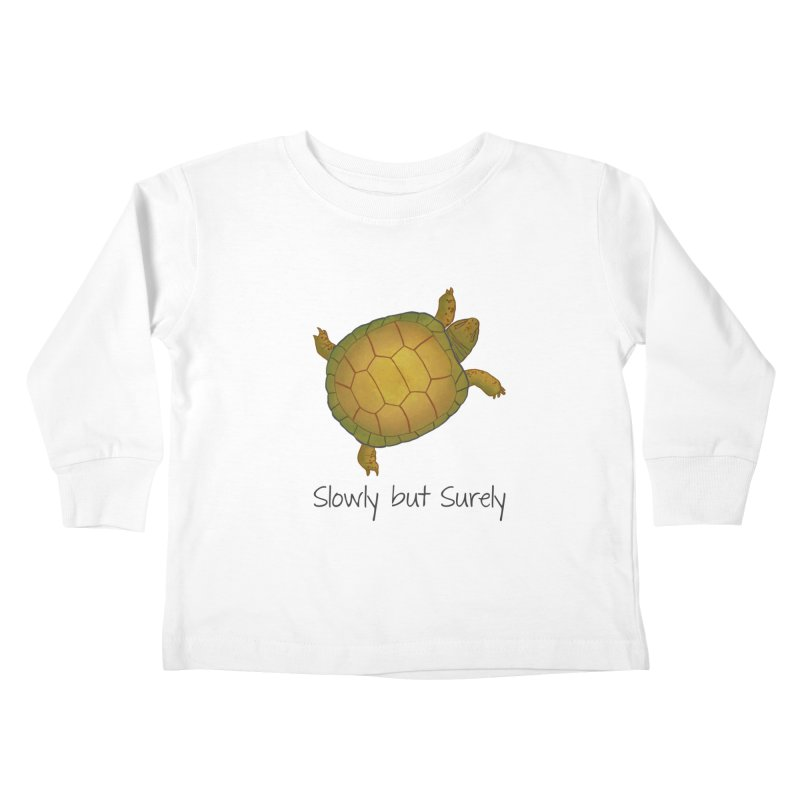 Turtle - Slowly but Surely - Lazy Animals Kids Toddler Longsleeve T-Shirt by Beatrizxe