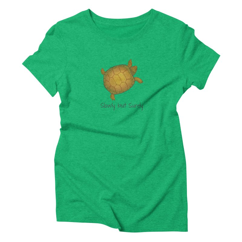 Turtle - Slowly but Surely - Lazy Animals Women's Triblend T-shirt by Beatrizxe