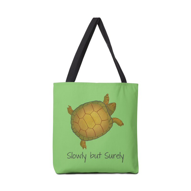 Turtle - Slowly but Surely - Lazy Animals Accessories Bag by Beatrizxe