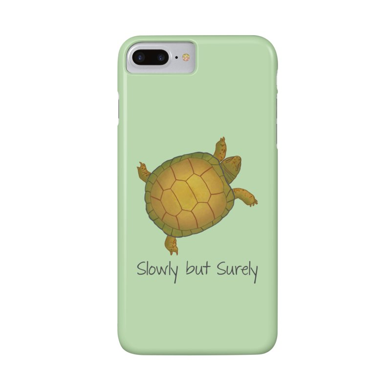 Turtle - Slowly but Surely - Lazy Animals Accessories Phone Case by Beatrizxe