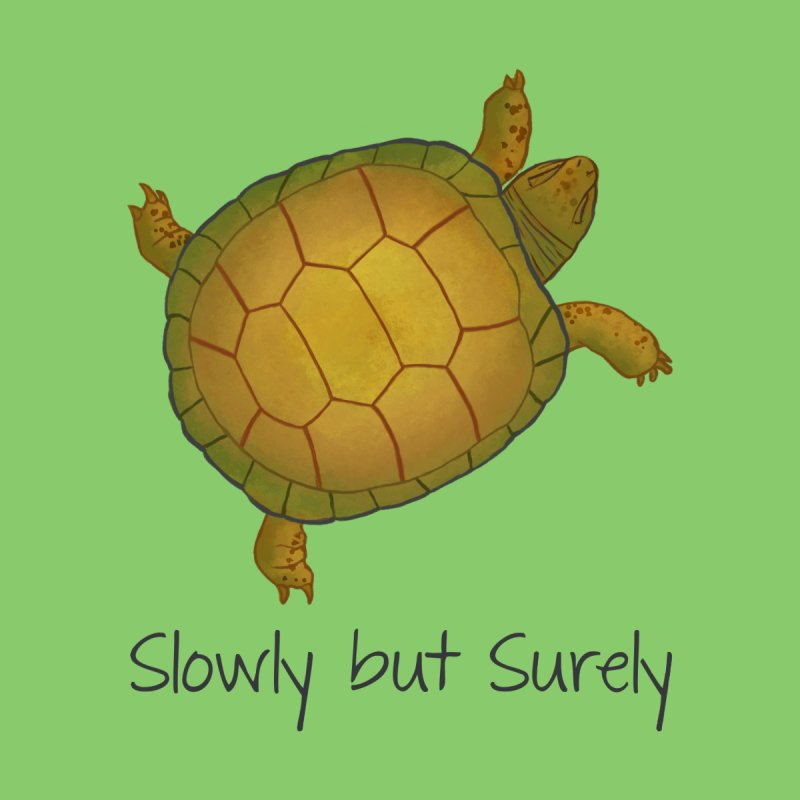 Turtle - Slowly but Surely - Lazy Animals Home Mounted Aluminum Print by Beatrizxe