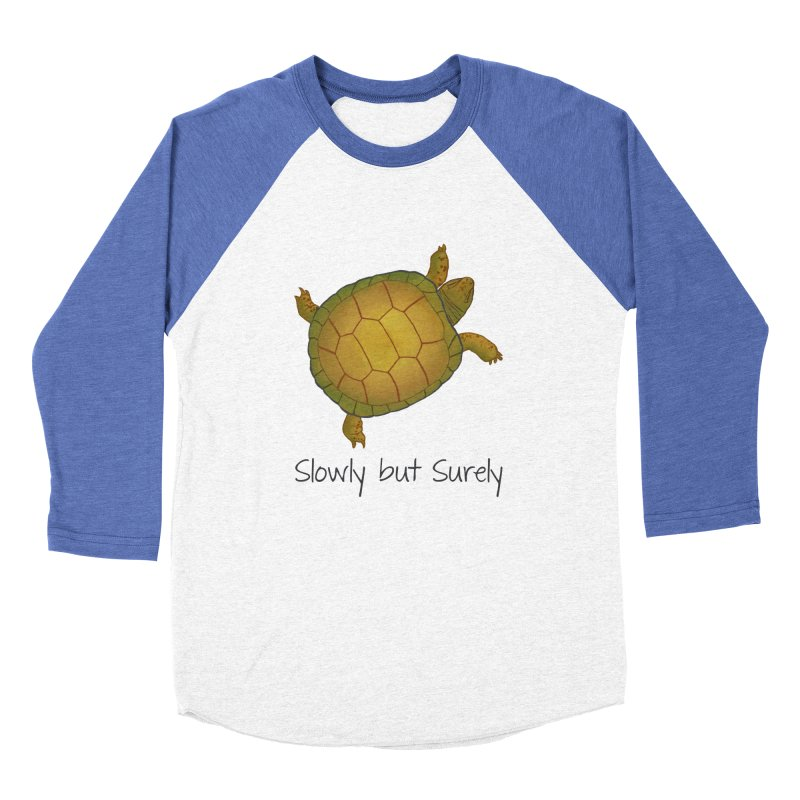 Turtle - Slowly but Surely - Lazy Animals Men's Baseball Triblend Longsleeve T-Shirt by Beatrizxe